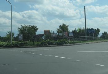 丸山橋方向へ右折